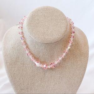 Vintage - Pink Iridescent Necklace